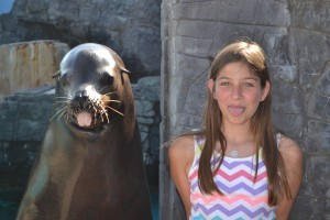 Haley w Sea Lion