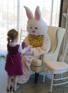 Girl with Bunny at Brunch