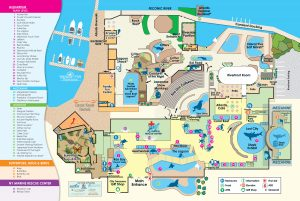 This is a map in color of the aquarium.