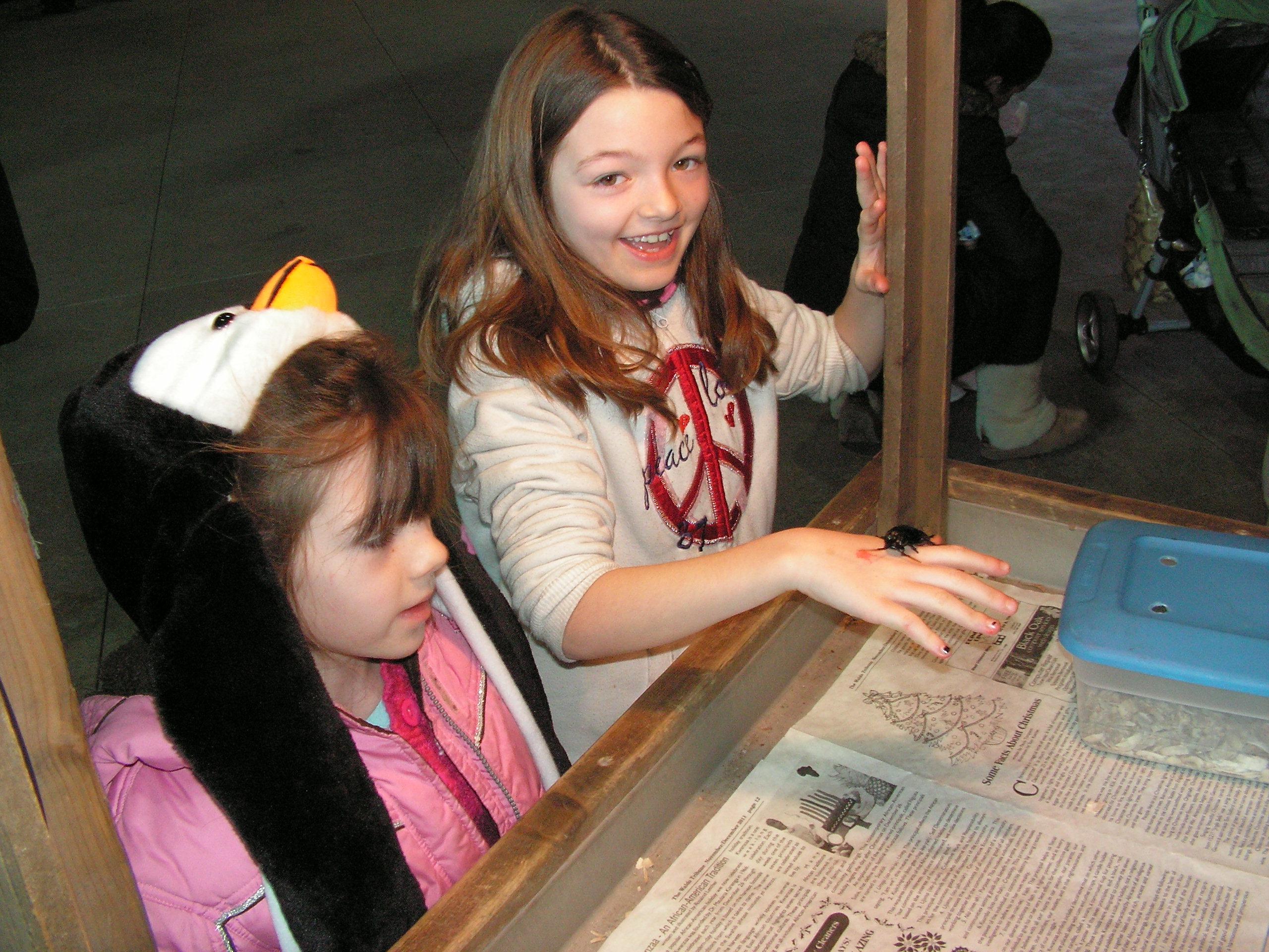 Girls at Critter Cart