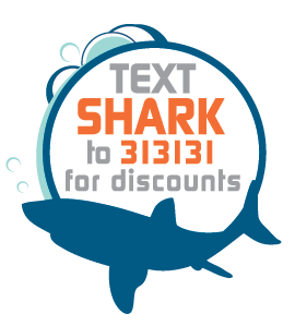 Text SHARK to 313131 for discounts